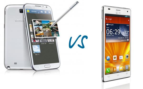 Мини сравнение Samsung Galaxy Note II и LG Optimus 4X HD